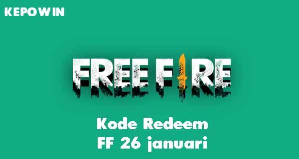 Kode Redeem FF 26 januari