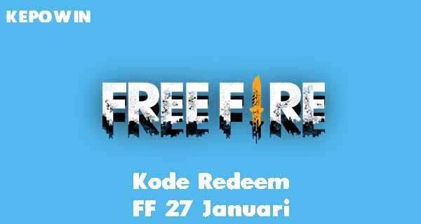 Kode Redeem FF 27 Januari