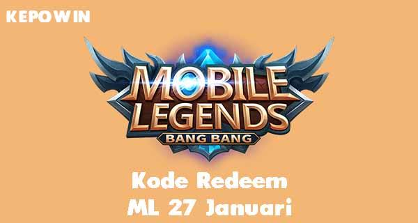 Kode Redeem ML 27 Januari