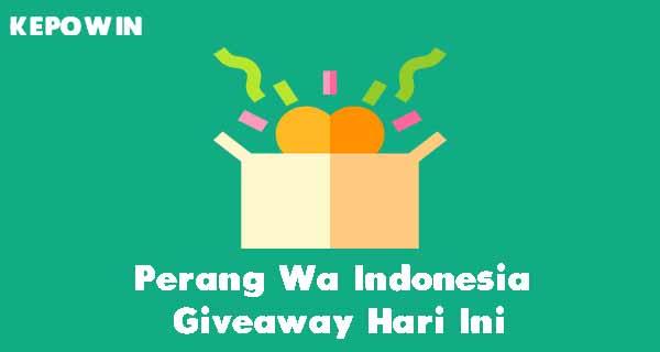 Perang Wa Indonesia Giveaway Hari Ini