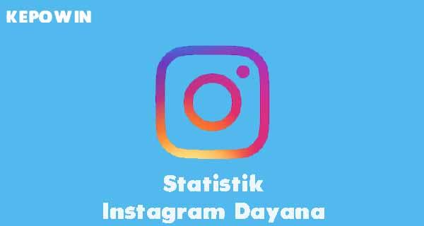 Statistik Instagram Dayana