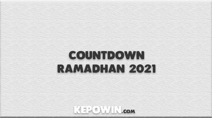 Countdown Ramadhan 2021