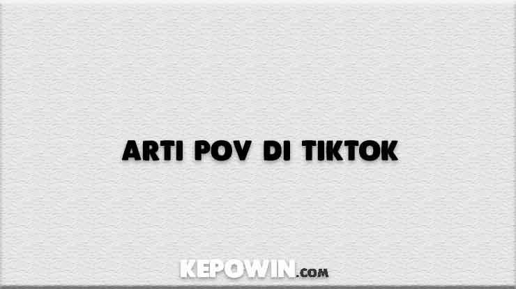 Arti Pov di Tiktok