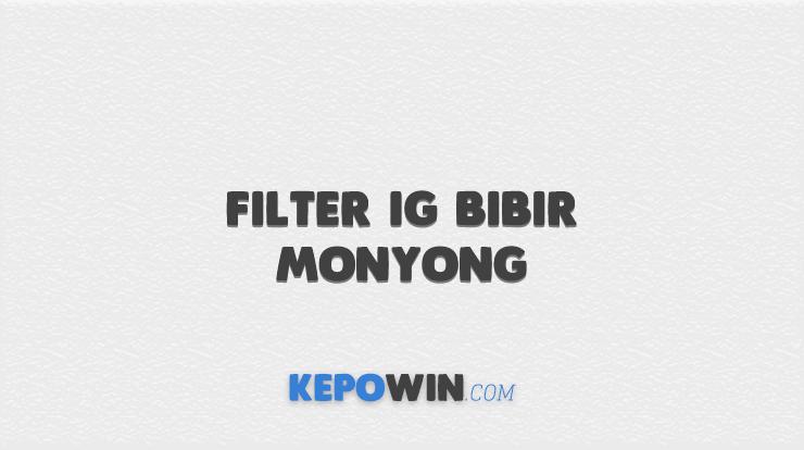 Filter IG Bibir Monyong