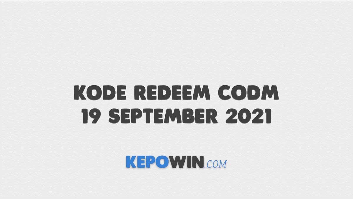 Kode Redeem CODM 19 September 2021