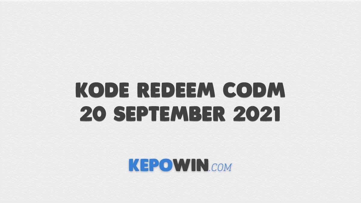 Kode Redeem CODM 20 September 2021