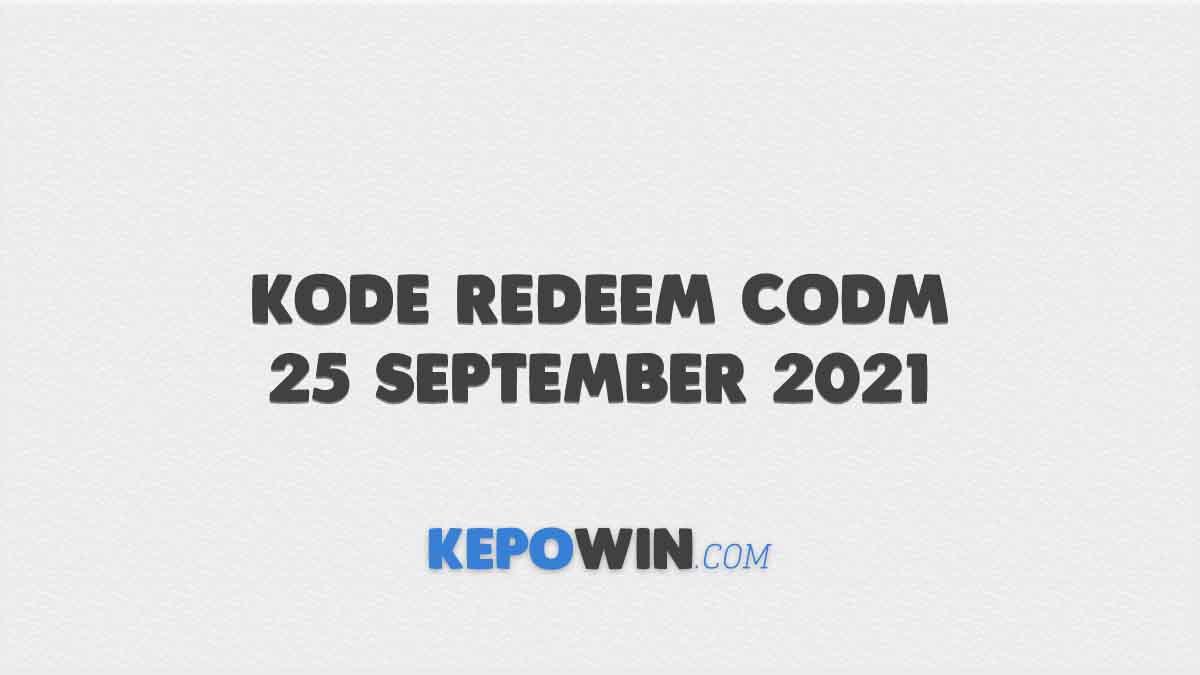 Kode Redeem CODM 25 September 2021