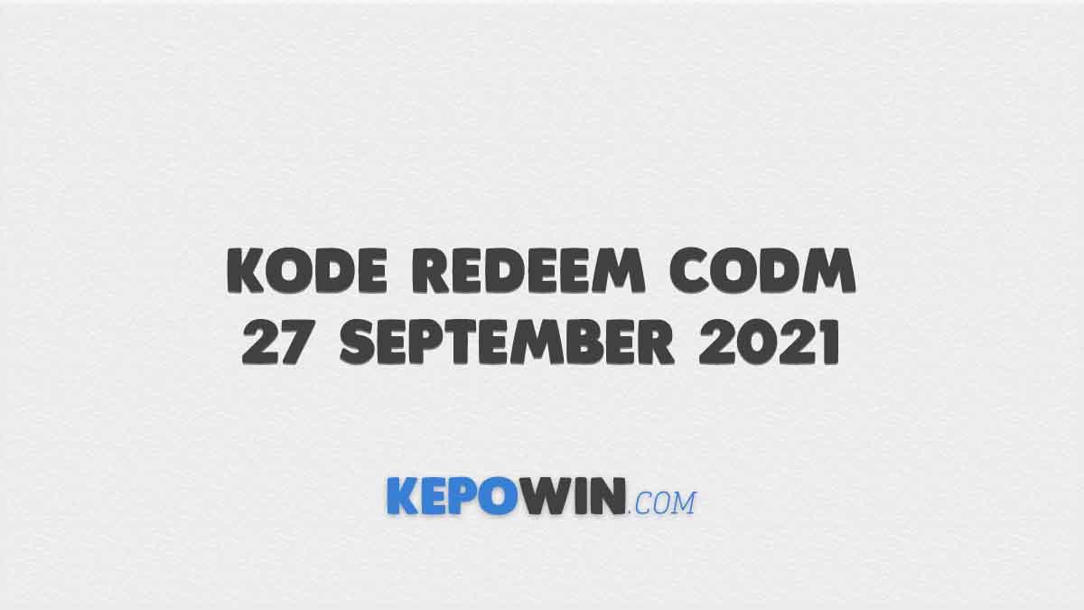 Kode Redeem CODM 27 September 2021