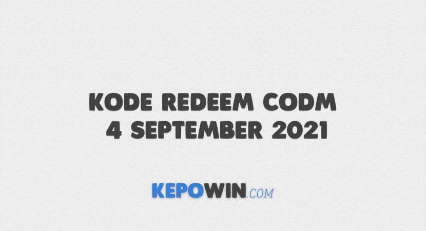 Kode Redeem CODM 4 September 2021
