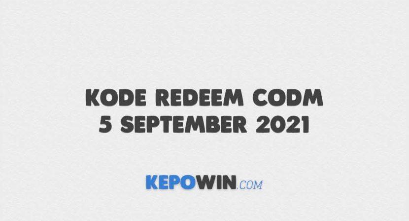 Kode Redeem CODM 5 September 2021