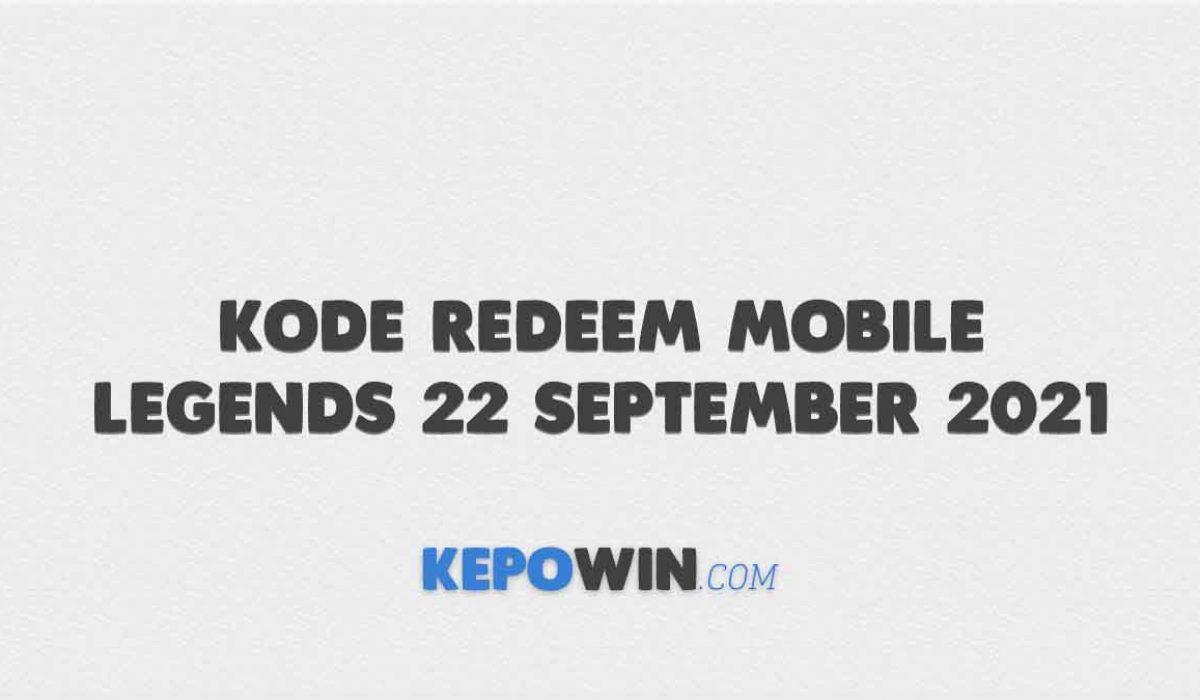 Kode Redeem Mobile Legends 22 September 2021