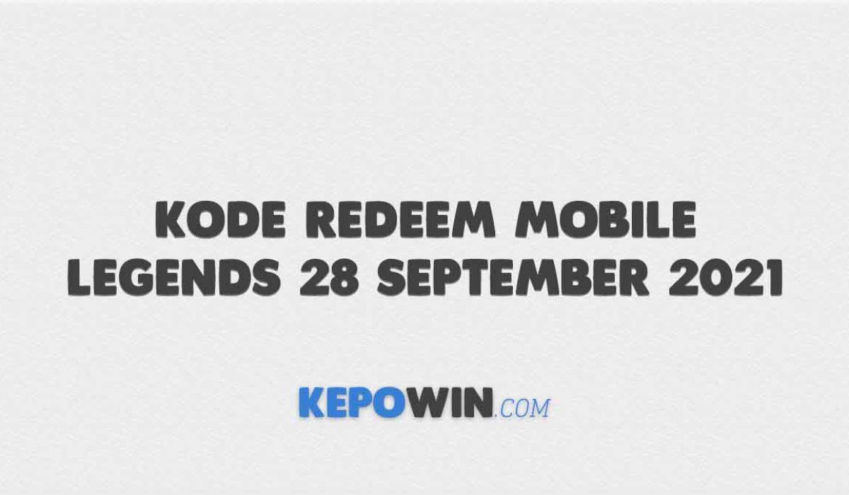 Kode Redeem Mobile Legends 28 September 2021