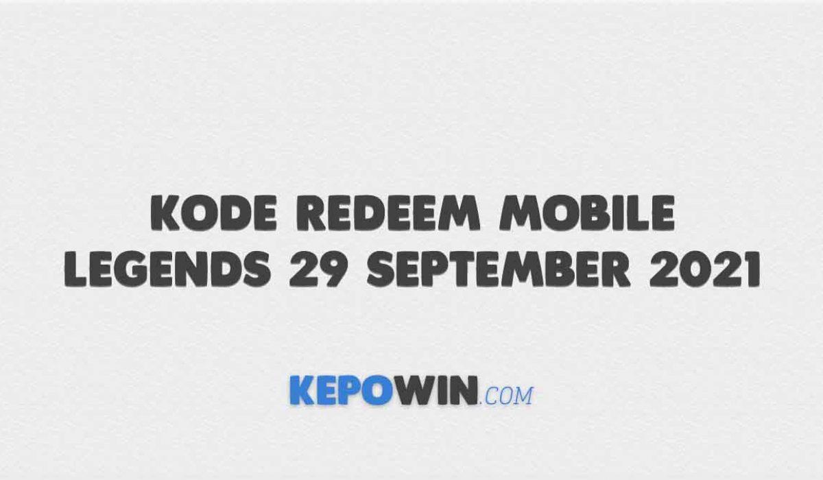 Kode Redeem Mobile Legends 29 September 2021