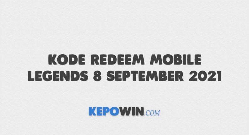 Kode Redeem Mobile Legends 8 September 2021