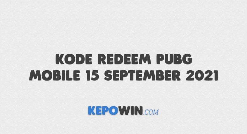 Kode Redeem PUBG Mobile 15 September 2021