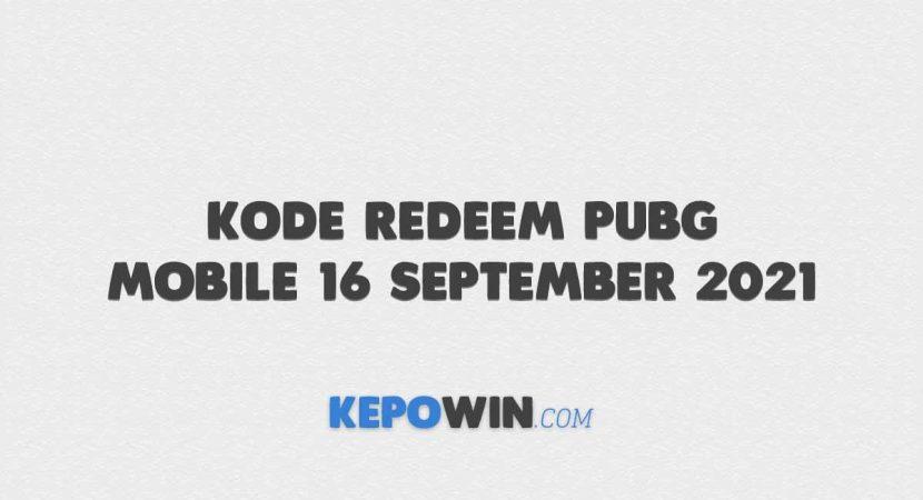 Kode Redeem PUBG Mobile 16 September 2021