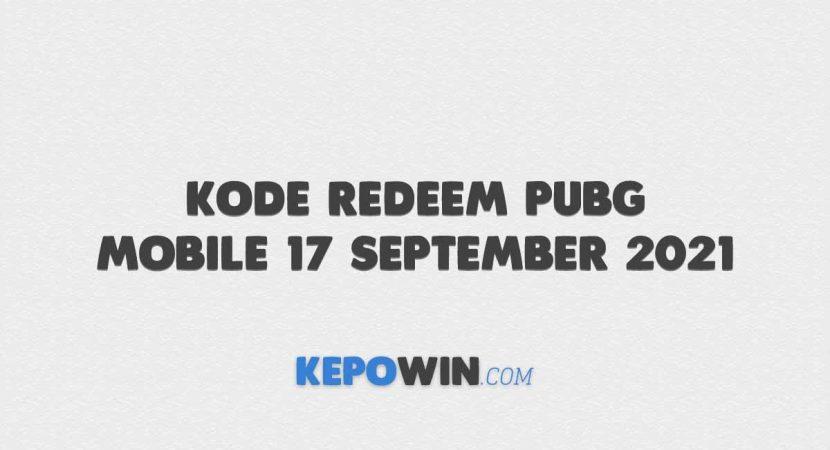 Kode Redeem PUBG Mobile 17 September 2021