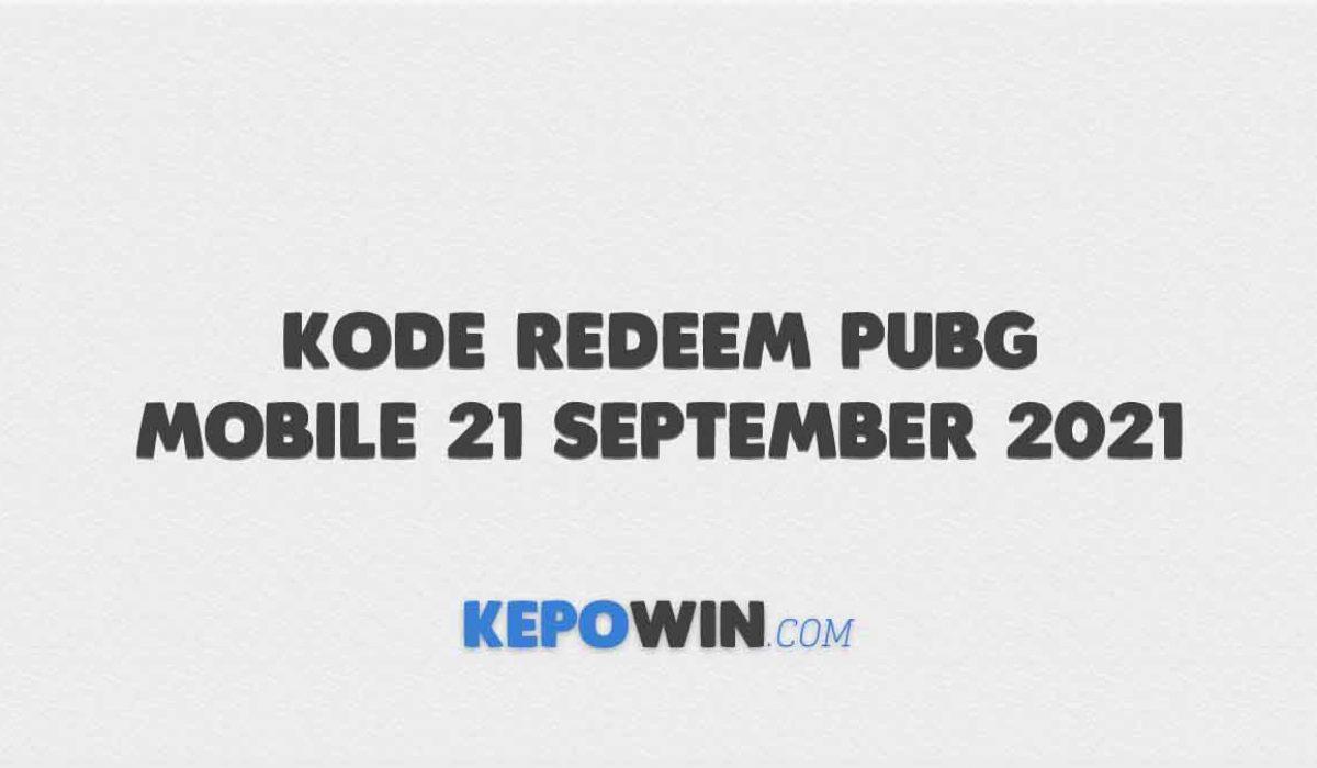 Kode Redeem PUBG Mobile 21 September 2021