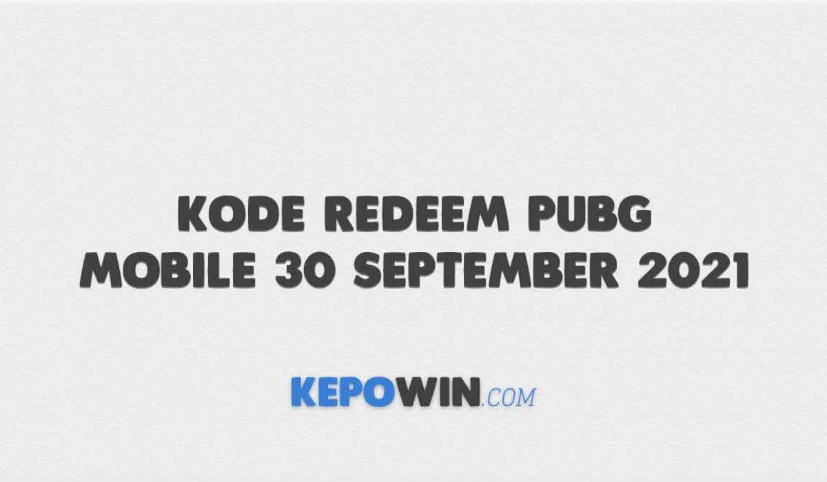 Kode Redeem PUBG Mobile 30 September 2021