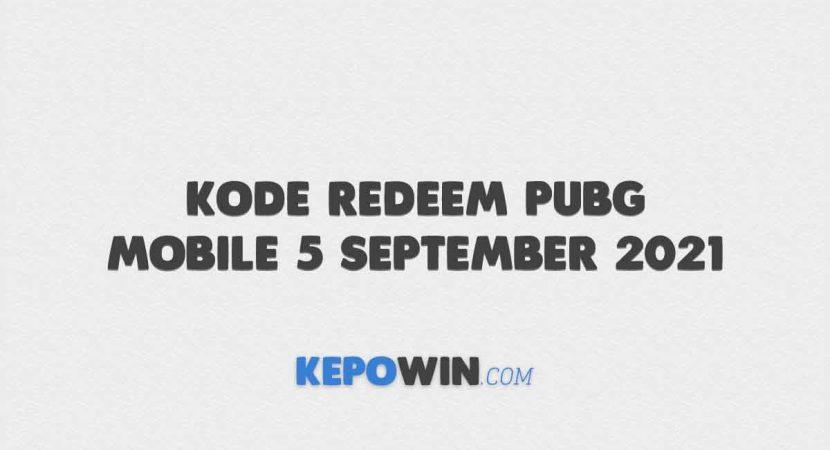 Kode Redeem PUBG Mobile 5 September 2021