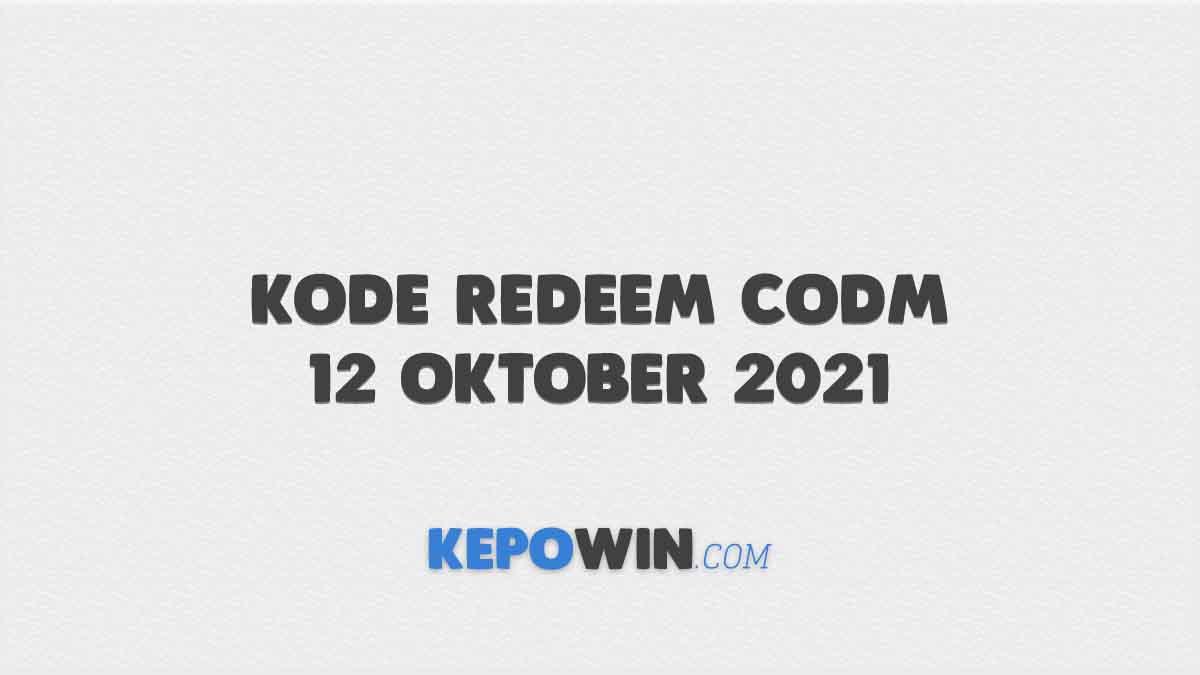 Kode Redeem CODM 12 Oktober 2021