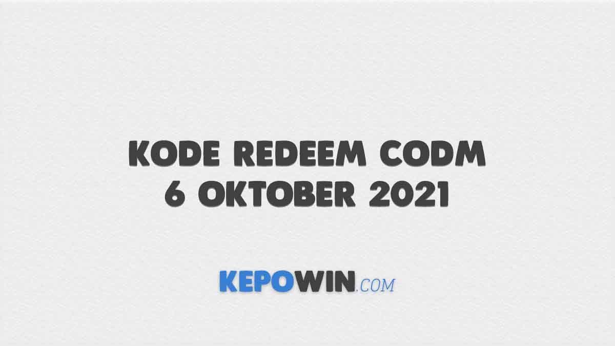 Kode Redeem CODM 6 Oktober 2021